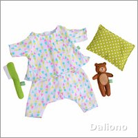 Extra outfit - good night set for Rubens Kids dolls