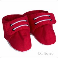 Extra outfit - red sneakers for Rubens Kids dolls