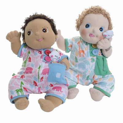 Pocket Friends pyjama, green for Rubens Babies by Rubens Barn
