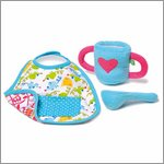 Feeding kit (drinking cup, spoon, bib) for Rubens Babys by Rubens Barn
